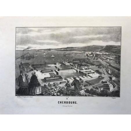 Cherbourg, Litho pinot et Sagaire, edit à Epinal