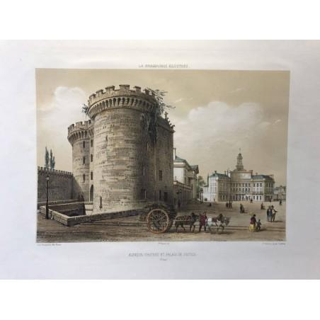 Alençon, Chateau et palais de justice, La Normandie Illustrée, 1865