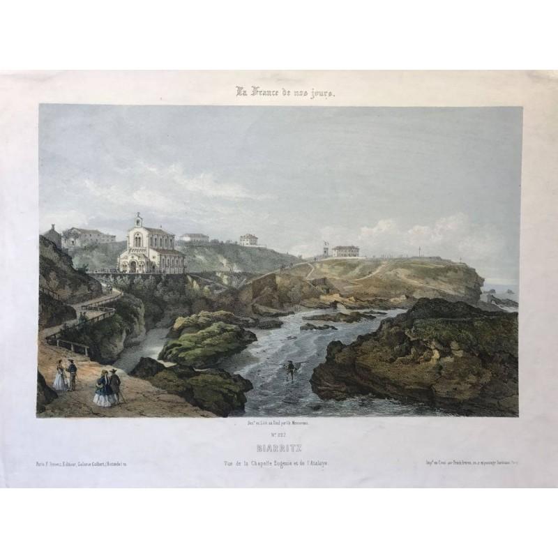 Biarritz, dessiné et lithographié par Mercereau, La France de Nos jours, 1855