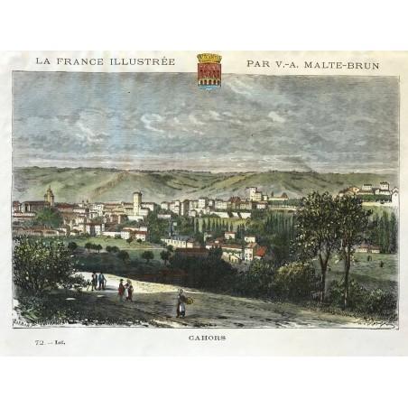 Cahors, la France Illustrée, Malte Brun