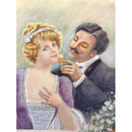 couple au verre