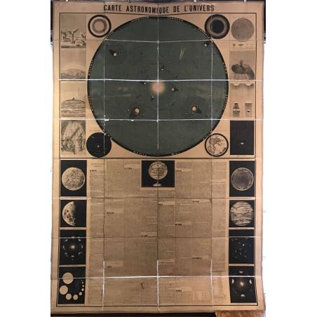 Carte Astronomique de l'Univers, dressée par etienne Laporte