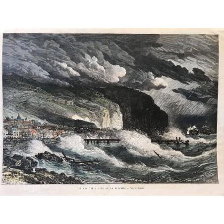 Un cyclone à l'ile de la Reunion