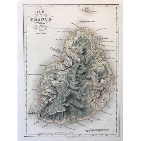 Ile de France dressée par Dufour 1836