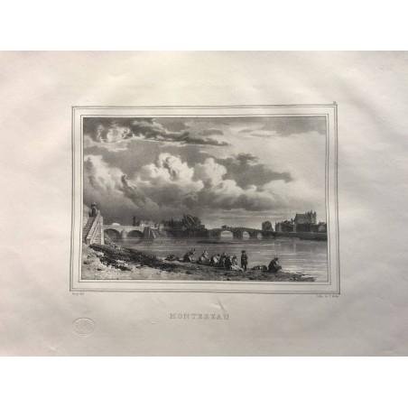 Les rives de la Seine, Deroy, 1831, Montereau