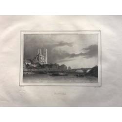 Les rives de la Seine, Deroy, 1831, Mantes