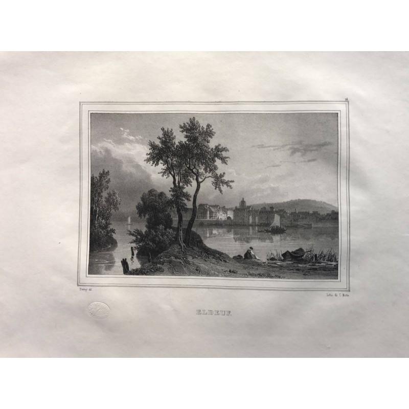 Les rives de la Seine, Deroy, 1831, Elbeuf