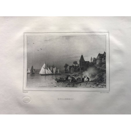 Les rives de la Seine, Deroy, 1831, Quilleboeuf