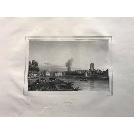 Les rives de la Seine, Deroy, 1831, Nogent sur Seine