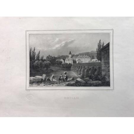 Les rives de la Seine, Deroy, 1831, Meulan