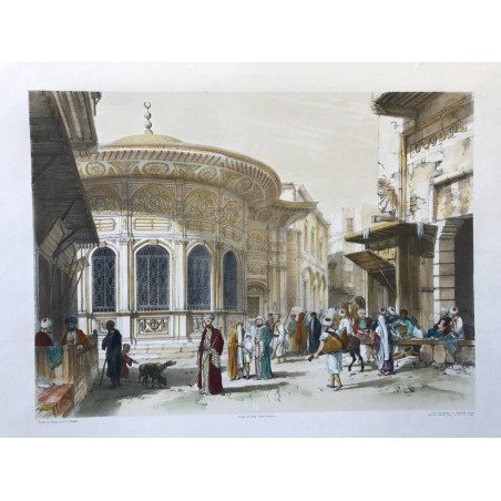The fountain of Toosdon Pasha in the principal street of Cairo