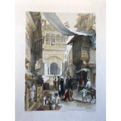 Beyn el-Kasreyn( part of the principal street of Cairo) with a public fountain