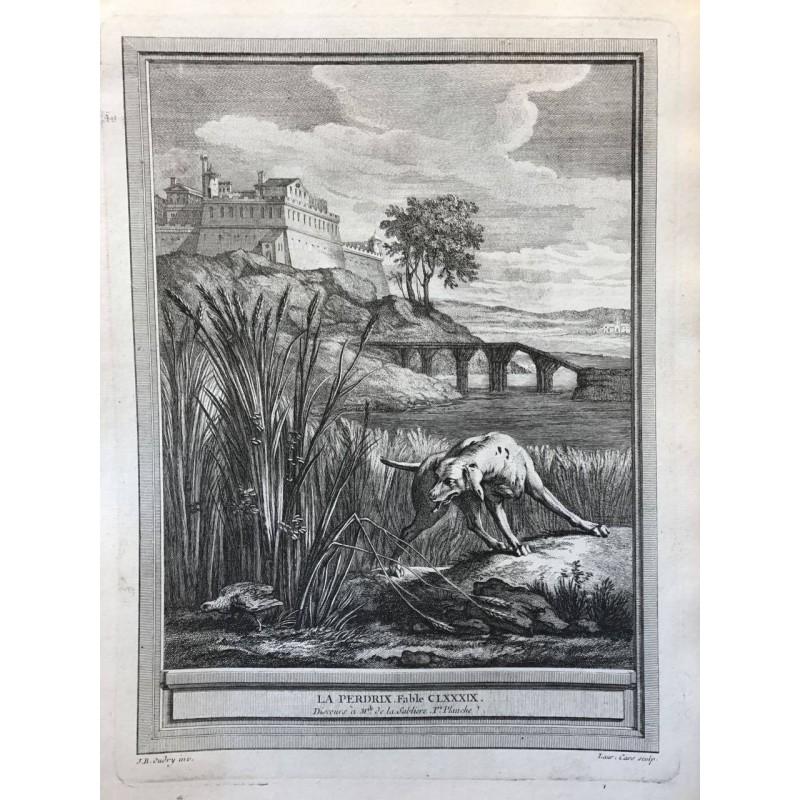 Oudry, Fables de la Fontaine, 1755, La perdrix