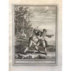 Oudry, Fables de la Fontaine, 1755, Les voleurs et l' âne