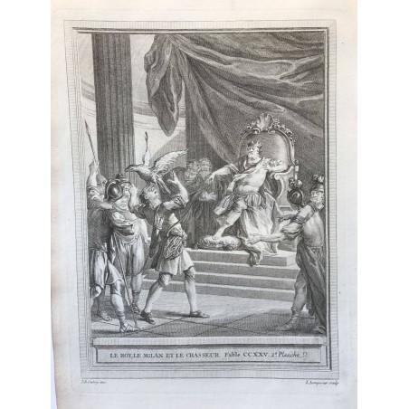 Oudry, Fables de la Fontaine, 1755, Le roy, le milan et le chasseur