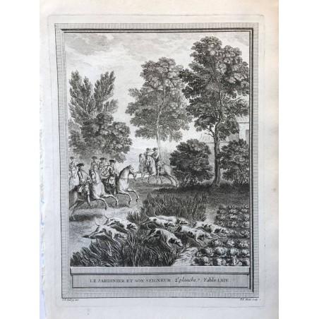 Oudry, Fables de la Fontaine, 1755, Le jardinier et son seigneur