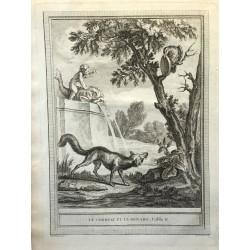 Oudry, Fables de la Fontaine, 1755, Le corbeau et le renard
