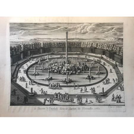 Le bassin d' Ancelade dans le jardin de  Versailles, 1682