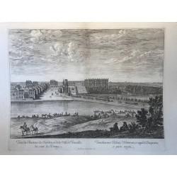 Vue du Chateau , des jardins, et de la ville de Versailles, du côté des jardins, 1674