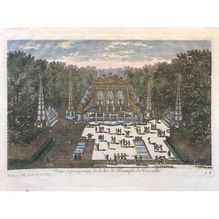 Gabriel Perelle 1604-1677, Vue et perspective de l' arc de triomphe de Versailles