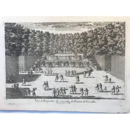Gabriel Perelle 1604-1677, Vue et perspective des cascades de Trianon de Versailles