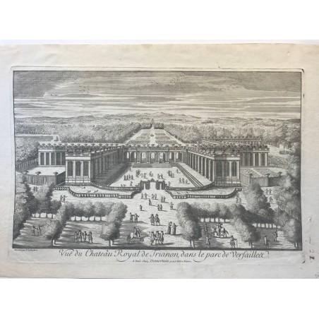 Vue du Chateau Royal de Trianon, dans le parc de Versailles