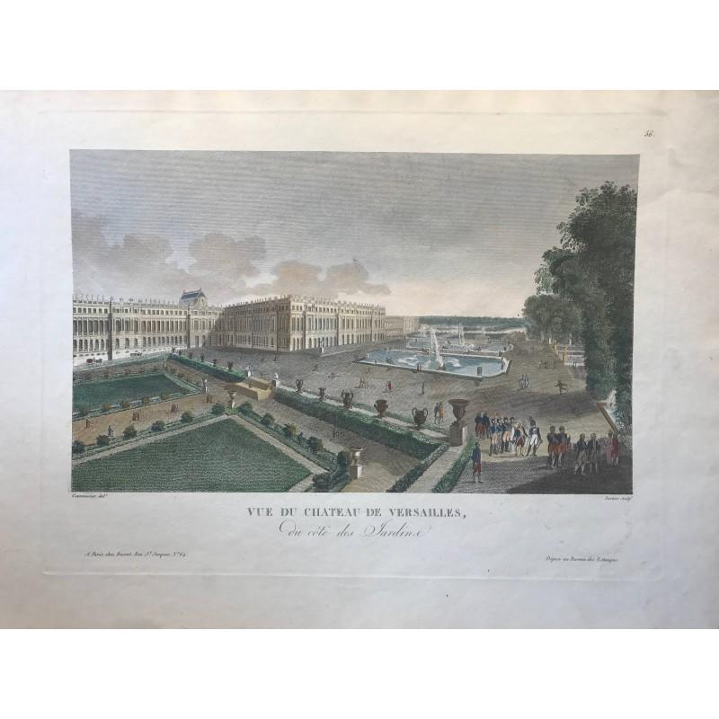 Vue du Chateau de Versailles, du côté des jardins, Courvoisier 1805