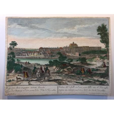 Vue du Chateau et d'une partie de la ville de Versailles, collection des Prospects