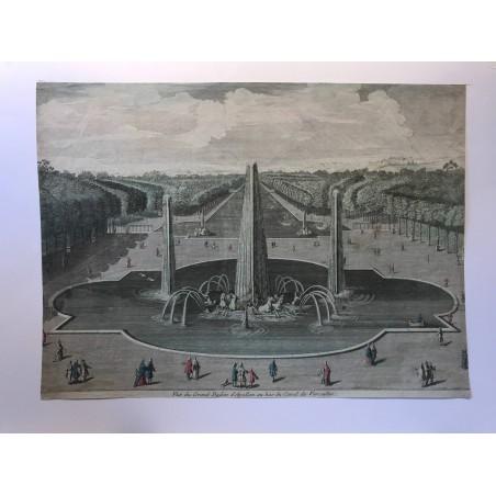 Vue du grand bassin d' Apollon au bas du canal de Verailles