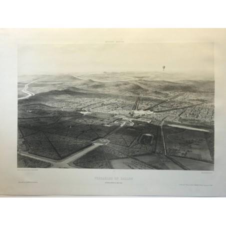 Excursions aeriennes, Versailles en ballon, 1846