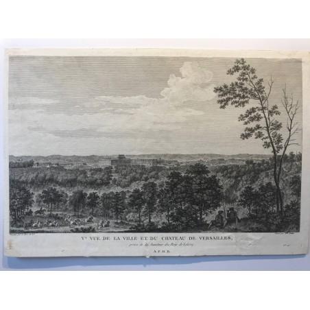 V ème vue de la ville et du chateau de Versailles