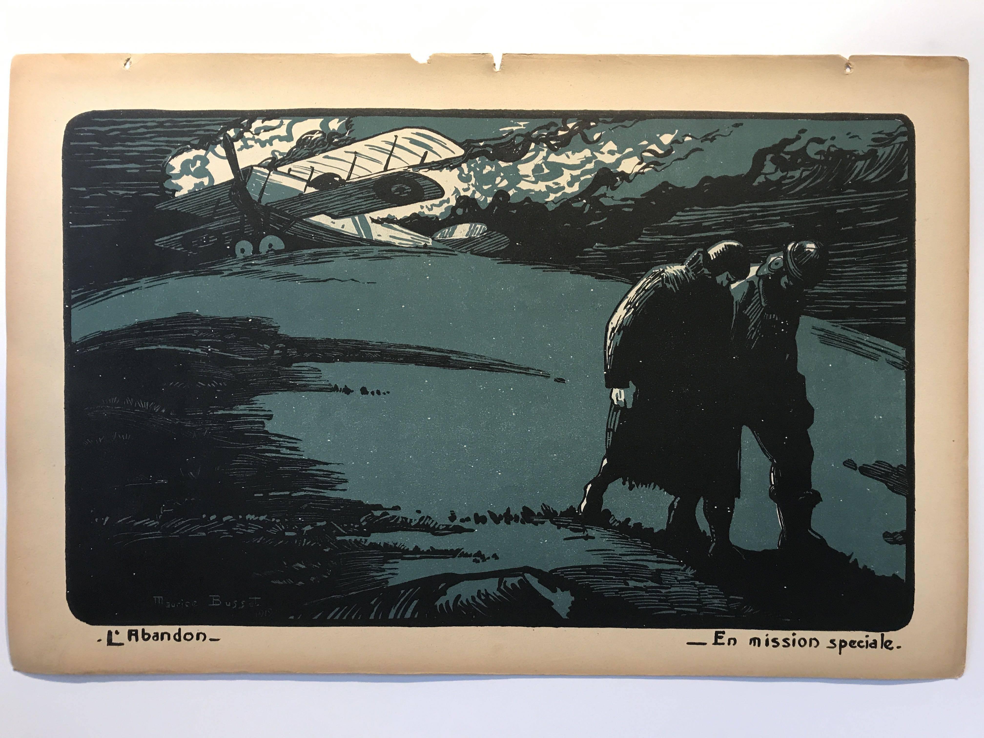 Maurice Busset, en avion, vols et combats, 1919