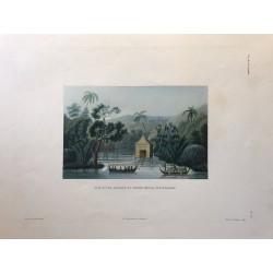 Voyage autour du monde, DUPERREY, 1826, Vue d' une pagode du havre Offak, ile Waigiou