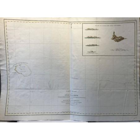 Carte plate de l'ile Necker, Lapérouse  1786