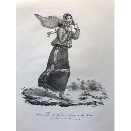 Jeune fille de Guham allant à la messe (relâche aux iles Mariannes)
