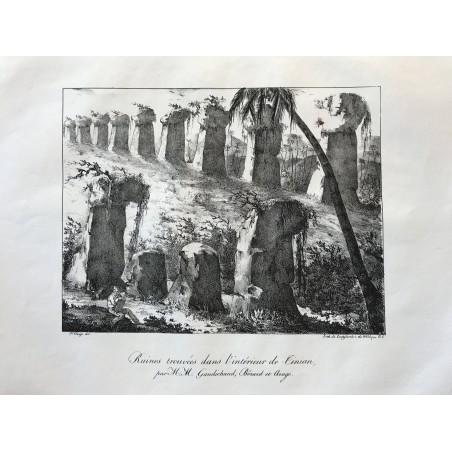 Ruines trouvées dans l' interieur de Tinian par M.M gaudichaud, Bérard et Arago