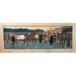 Harry Eliott, frise décorative, au paddock, 1912