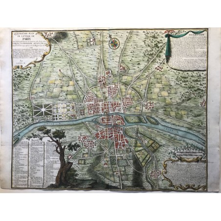 DELAMARE, traité de Police 1709, Plan de Paris