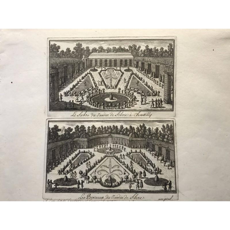 Gabriel Perelle 1604-1677, Le salon du jardin de Sylvie à Chantilly, Les berceaux du jardin de Sylvie