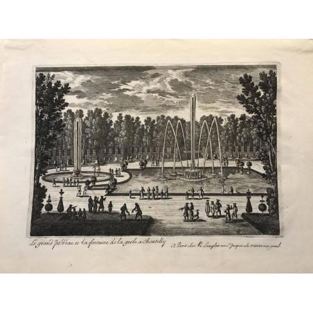Gabriel Perelle 1604-1677, Le grand jet d' eau et la fontaine de la gerbe à Chantilly