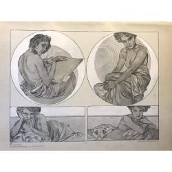 Alfons MUCHA figures décoratives