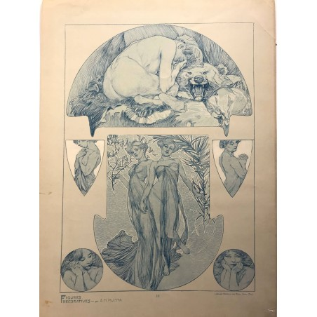 Alfons MUCHA figures décoratives