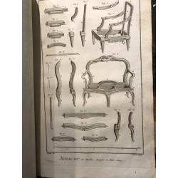 Diderot et d'Alembert, menuisier en meubles,1770
