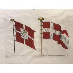Pavillons de marine, 1719