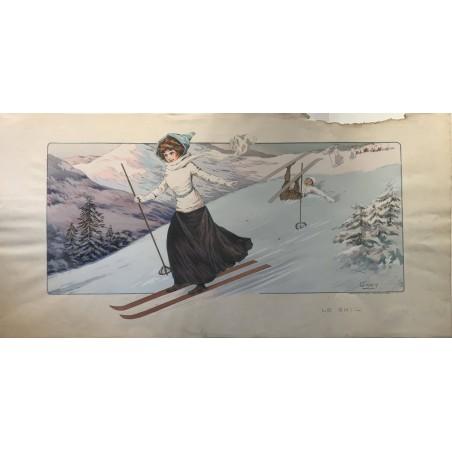 Gamy, le Ski, 1910
