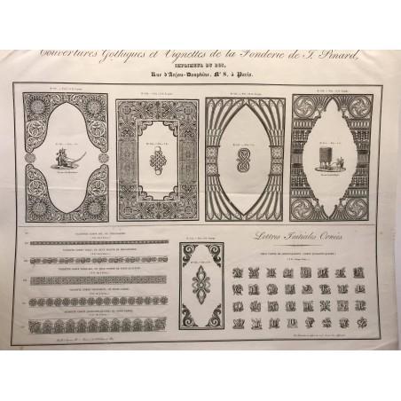 Collection des gravures polytypées, de la fonderie de Laurens et de Berry