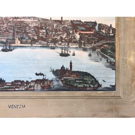 Vue générale de Venise, ou à vol d' oiseaux, Circa 1840