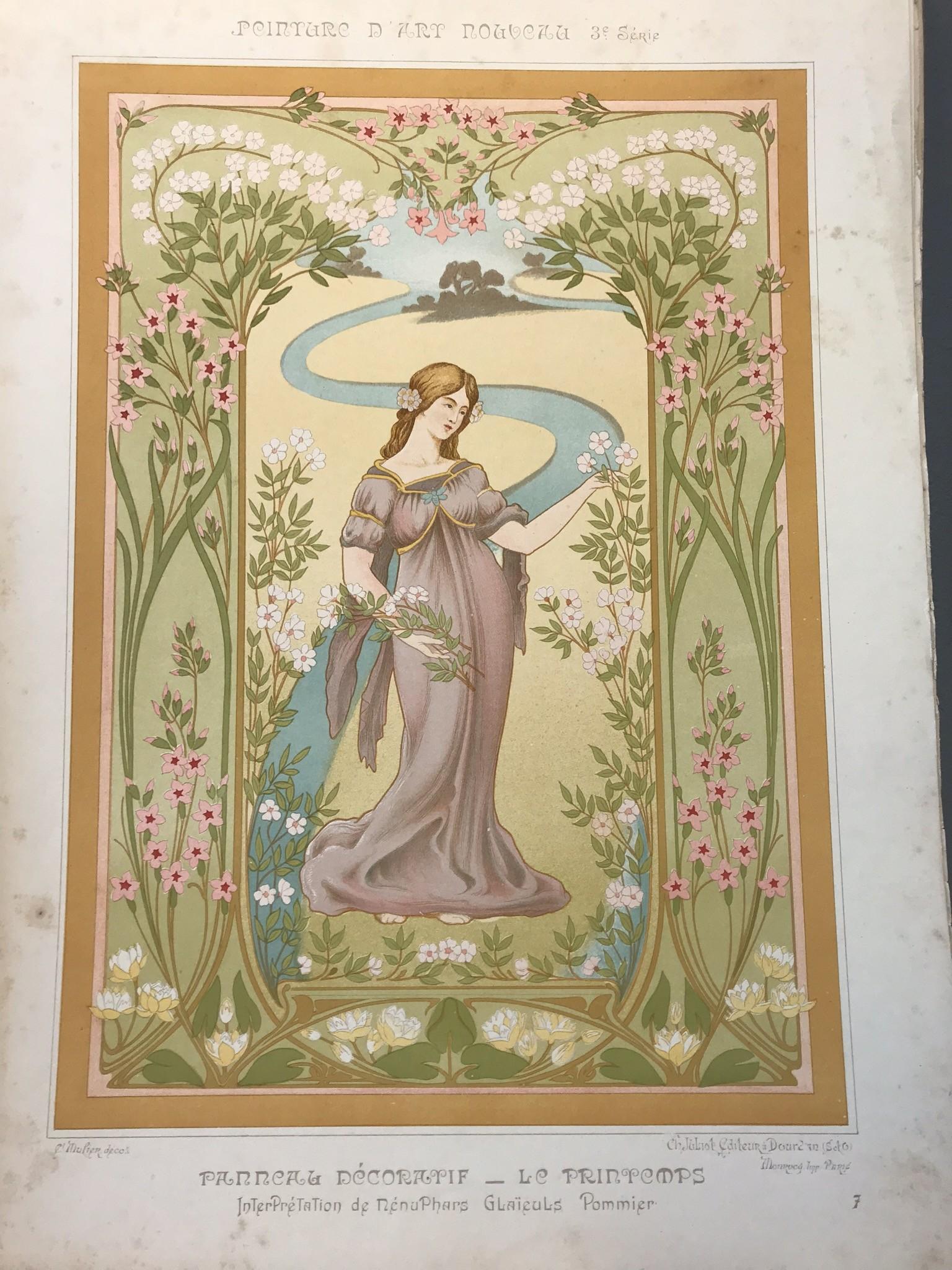Peinture d'art nouveau, décorations murales et plafonds ...