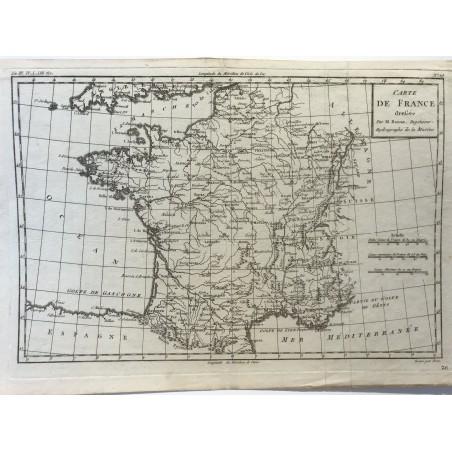 carte de France, Bonne, 1780