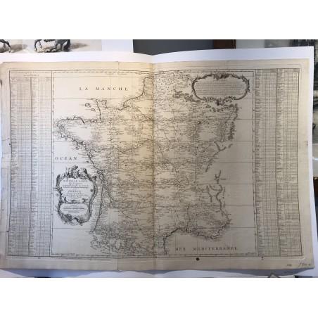 Nouvelle carte de France, Cassini de Thury, 1744